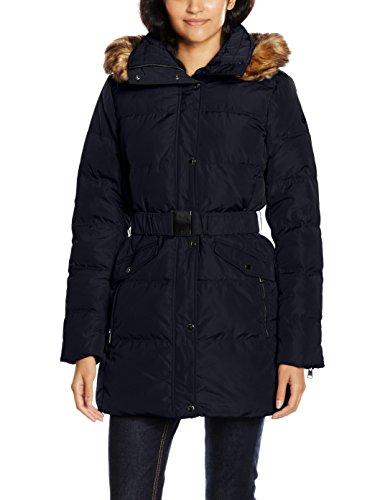 ESPRIT Damen Mantel 096EE1G017 Blau (Navy 400), 38 (Herstellergröße: 38)
