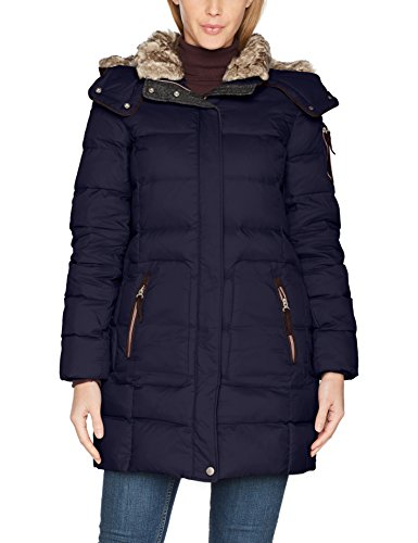 ESPRIT Damen Mantel 097EE1G045 Blau (Navy 400), Medium