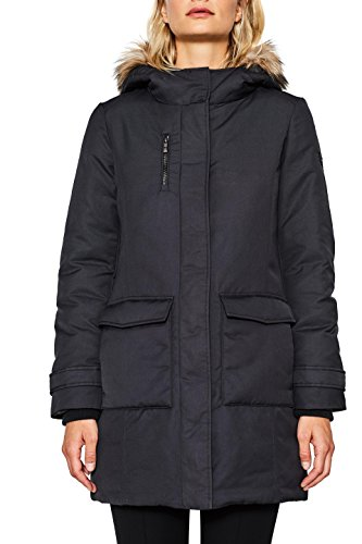 ESPRIT Damen Mantel 097EE1G022 Schwarz (Black 001), X-Small