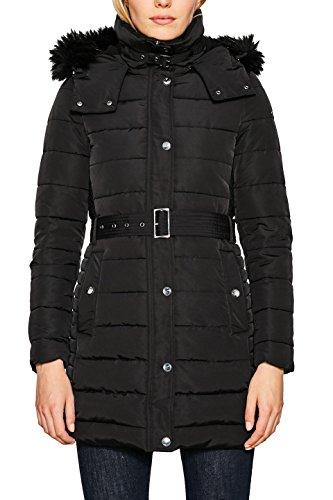 ESPRIT Damen Mantel 097EE1G042 Schwarz (Black 001), Medium