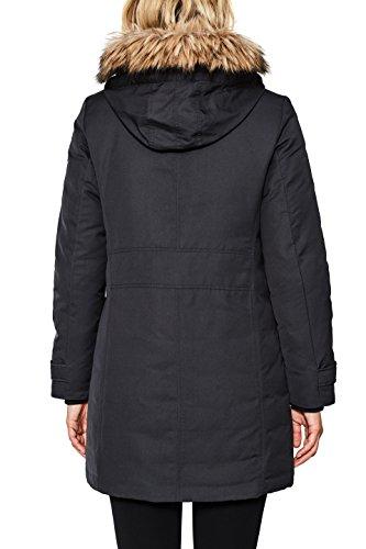 ESPRIT Damen Mantel 097EE1G022 Schwarz (Black 001), X-Small