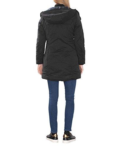 edc by ESPRIT Damen Mantel 096CC1G008, Schwarz (Black 001), 34 (Herstellergröße: XS)