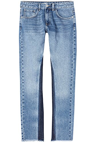 FIND Damen Denim Shadow Panel Fit Straight Jeans
