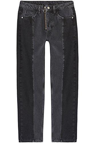 Amazon-Marke: find. Damen Gerade geschnittene Jeans mit Reißverschluss