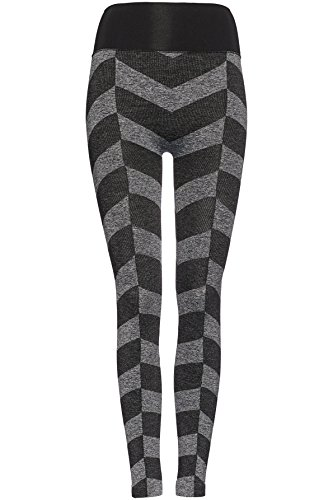 FIND Damen Nahtlose Sport-Leggings