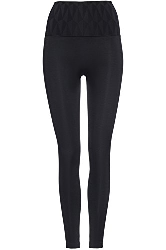 FIND Damen Sport Leggings Seamfree Geo Patterned Waistband