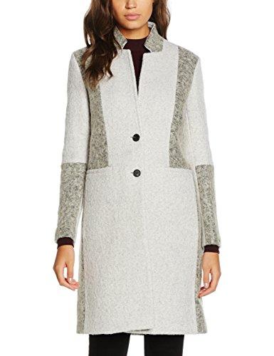 Tommy Hilfiger Damen Mantel Isabel Colorblock Wool Coat Mehrfarbig (Light Grey Htr/Medium Grey Htr 903), 40 (Herstellergröße: 10)