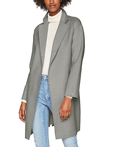 Tommy Hilfiger Damen Mantel Carmen Wool Coat, Grau (Light Grey Htr 039), 34 (Herstellergröße: XS)