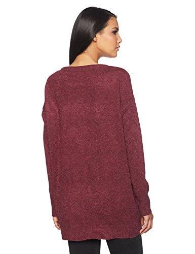 VERO MODA Damen Pullover Vmcolma Brilliant LS Oversize Blouse Rot (Zinfandel), 38 (Herstellergröße: M)