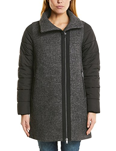 Street One Damen Mantel 100261, Schwarz (Black 20001), 44