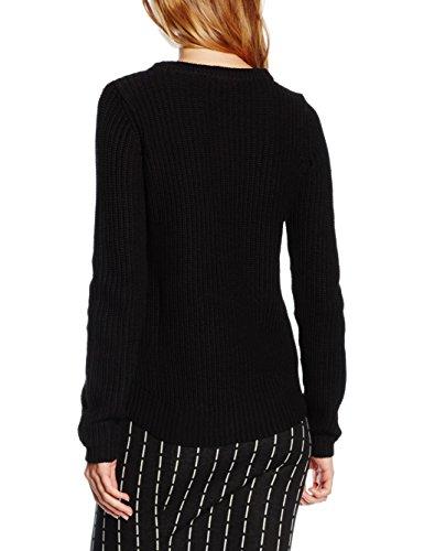 VERO MODA Damen Bluse Vmlex LS Blouse Noos, Schwarz (Black), 34 (Herstellergröße: XS)