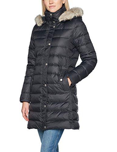 Tommy Hilfiger Damen Mantel Tyra Down Coat, Schwarz (Black Beauty 094), Large