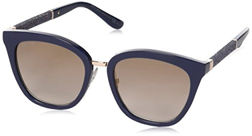Jimmy Choo Sonnenbrille FABRY Blueeglttbluee With Brown Ms Gld Lens, 53 mm
