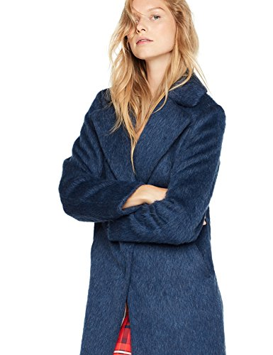 TOMMYNOW - Tommy Hilfiger Damen Mantel Cher Wool Coat Blau, 8 Small