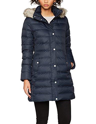 Tommy Hilfiger Damen Mantel Tyra Down Coat, Blau (Midnight 403), Medium