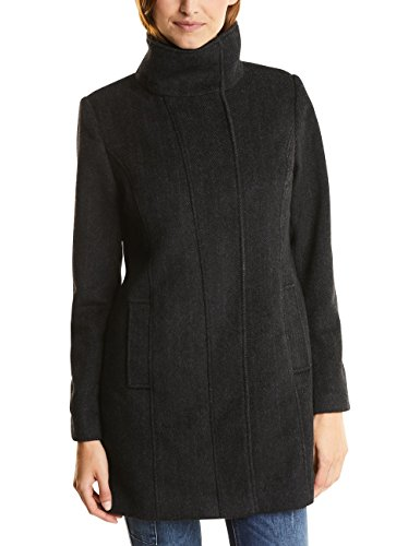 Street One Damen Mantel 100219 Serena, Schwarz (Black 10001), 38