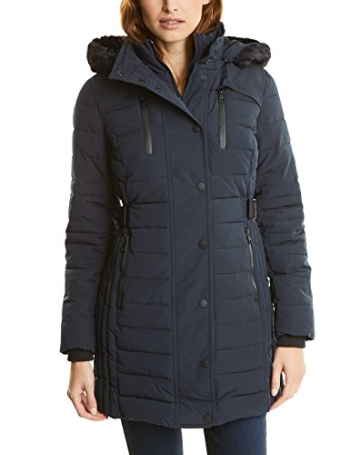 Street One Damen Mantel 100265, Blau (Black Night 20989), 38