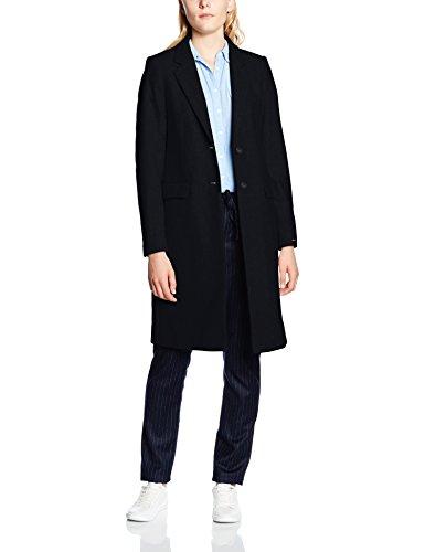 Tommy Hilfiger Damen Mantel NEW THEA WOOL CLASSIC COAT, Gr. 38 (Herstellergröße: 8), Blau (Midnight 403)