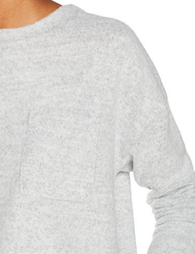 VERO MODA Damen Pullover Vmchula Fallon LS O-Neck Blouse Grau (Light Grey Melange), 40 (Herstellergröße: L)