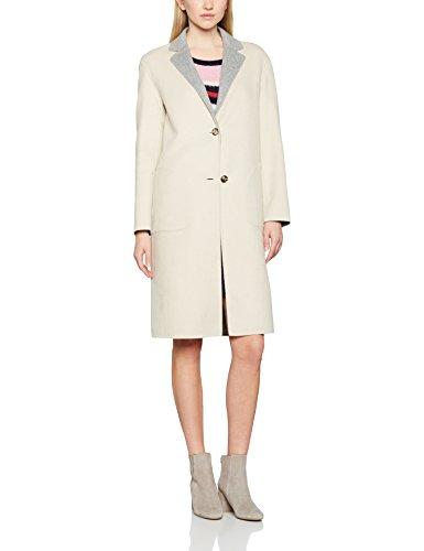 Tommy Hilfiger Damen Mantel New Giselle DF Reversible Wool Coat, Mehrfarbig (Oatmeal/Light Grey Htr 902), 38 (Herstellgröße: 8)