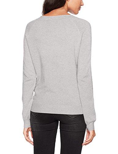 VERO MODA Damen Pullover Vmhappy LS O-Neck Blouse Boo Grau (Light Grey Melange), Small