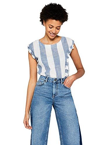 Amazon-Marke: find. Damen Bluse gestreift