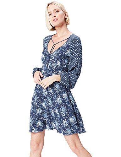 Amazon-Marke: find. Damen Boho-Kleid mit Blumenmuster