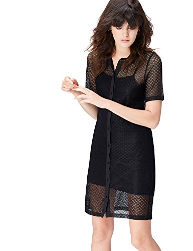 Amazon-Marke: find. Damen Hemdkleid aus Spitze