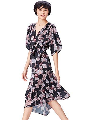 Amazon-Marke: find. Damen Kimono-Kleid mit Blumenmuster
