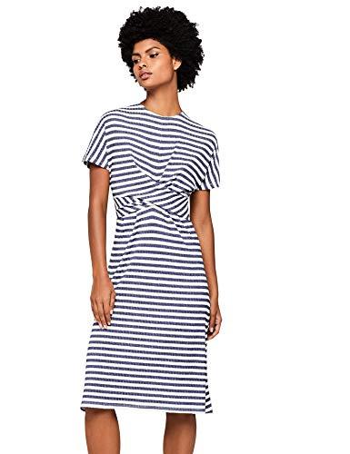 Amazon-Marke: find. Damen Kleid Stripe Twist Front