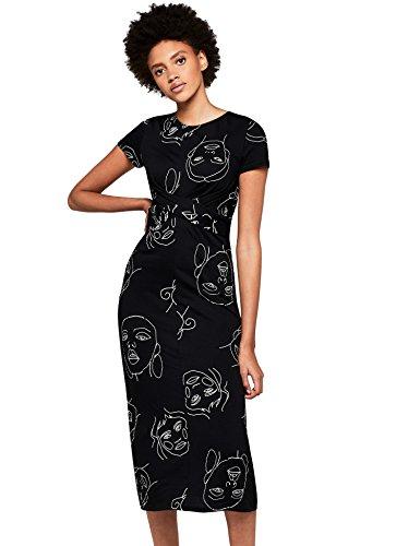 Amazon-Marke: find. Damen Kleid tailliert mit Print