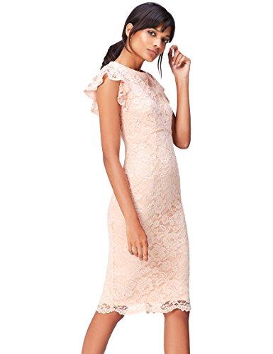 Amazon-Marke: find. Damen Midi-Schlauchkleid aus Spitze