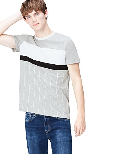 FIND Herren T-Shirt Vertical Stripe Alia