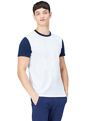 Amazon-Marke: find. Herren T-Shirt mit Colour-Block-Design