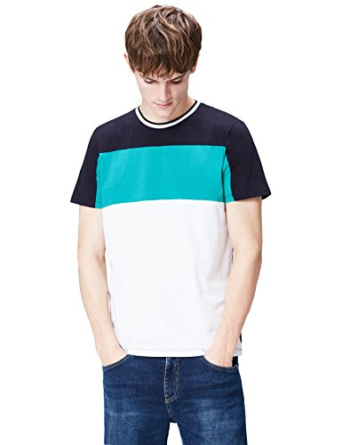 Amazon-Marke: find. Herren T-Shirt mit Colour-Blocking