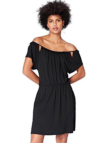 Amazon-Marke: find. Kleid Damen tailliert mit schulterfreiem Carmen-Design