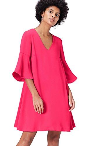 Amazon-Marke: find. Kleid Damen mit A-Linien-Form und Trompetenärmeln