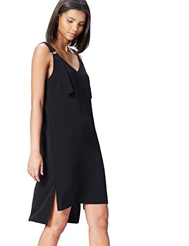 Amazon-Marke: find. Kleid Damen mit breiten Trägern und V-Ausschnitt