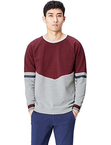 Amazon-Marke: find. Sweatshirt Herren Colour-Blocking und runder Ausschnitt