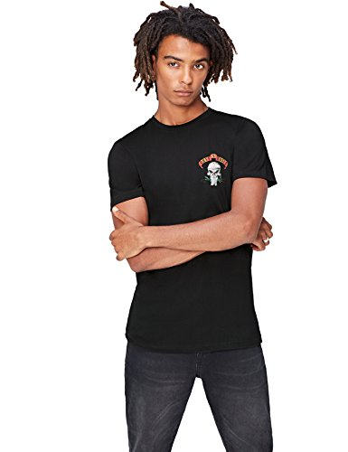 FIND T-Shirt Herren Guns N' Roses-Print Lockere Passform