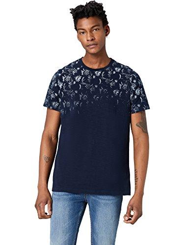 FIND T-Shirt Herren mit Blätter-Print und Vintage-Look