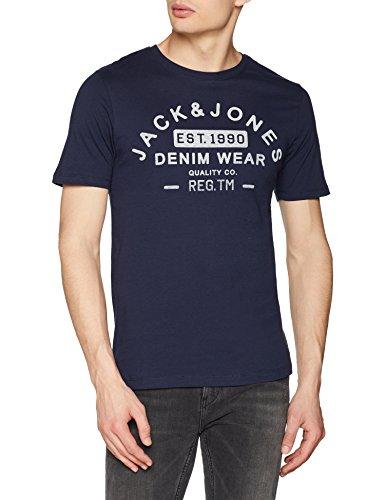 JACK & JONES Herren T-Shirt Jjejeans Print Tee Ss Crew Neck Noos
