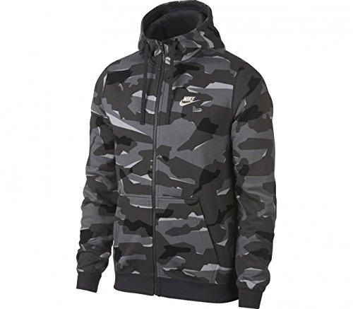 Nike Herren Sportswear Club Fleece Camo-Hoodie mit Durchgehendem Reißverschluss