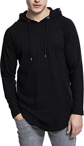 Urban Classics Herren Kapuzenpullover Long Shaped Terry Hoody