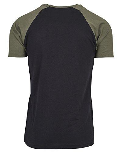 Urban Classics Herren Regular Fit T-Shirt Raglan Contrast Tee TB639