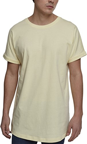 Urban Classics Herren T-Shirt Long Shaped Turnup Tee