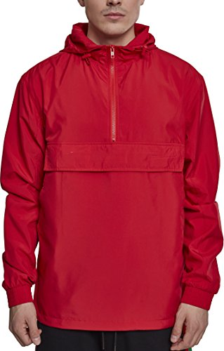 Urban Classics Herren Windbreaker Basic Pull-Over Jacket, Leichte Streetwear Jacke