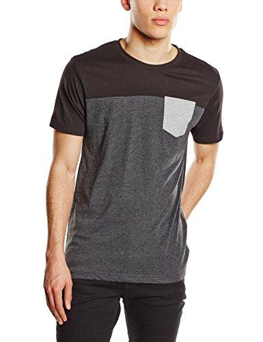 Urban Classics TB969 Herren Langarmshirt T-Shirt 3-Tone Pocket Tee