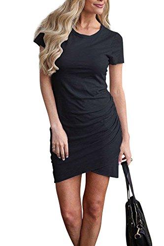 Walant Etuikleider Bleistftkleid Sommerkleid Damen Kurzarm Abendkleid Rundhals Ausschnitt Elegant Minikleider Business…