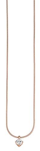 ESPRIT Damen-Kette mit Anhänger Grace 925 Silber rhodiniert Zirkonia weiß Rundschliff 42 cm - ESNL91934C420